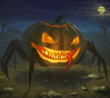 POSSESSED PUMPKIN by dante-cg