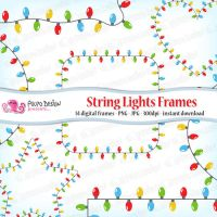 String Lights Frames clipart by PolpoDesign