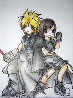 Cloud and Tifa by Honoka
