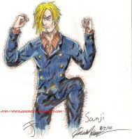 Day 2: Sanji by HyruleExorcist
