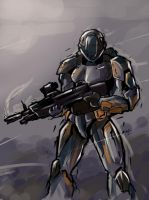 sketch 8 - Halo Avatar by elquijote