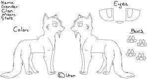 Warrior cat ref sheet by xXXenonUranXx