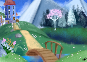 Moomin Valley painting by jjjqqr