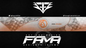 Soul Killers Banner Youtube by FamaGFX