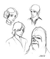 Disney Star Wars warm up doodles by Ihlecreations