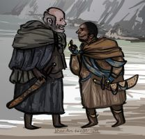 Old Men by the Sea by khaedin