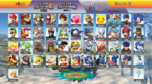 Super Smash Bros. 4: Ultimate Roster (Post-Direct) by MagnetarMaster