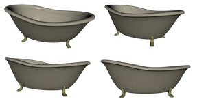Bathtub Set2 png by mysticmorning