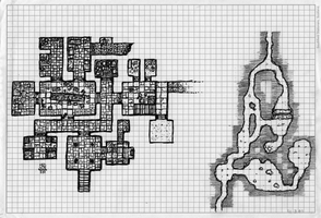 Dungeon on graph paper by billiambabble