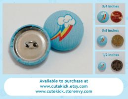 Rainbow Dash Shirt Buttons by cutekick