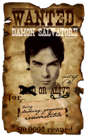 WANTED: Damon Salvatore by Alia-x
