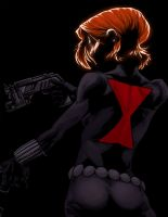 B - is for Black Widow by anklesnsocks