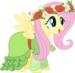Fluttershy in her dress by TechRainbow