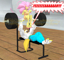 My Little Felicia: Weight Training by NekoHybrid