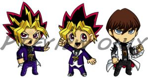 Yu-gi-oh Chibis by Red-Flare