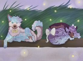 Relaxing night :: Cinnabutt Contest Entry by Faunella
