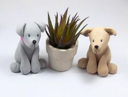 Dog Figurines by HeartshapedCreations