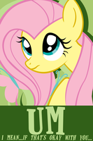 Fluttershy Poster v1.5 by Chingilin