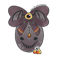 Halloween -- Hatchable Egg 4 CLOSED by Hardrockangel-Adopts