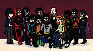 Batfamily Portrait Part Two by SakuraKaijuu