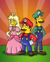 Mario, Luigi and Princess by orl-graphics