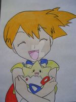 Misty with her Togepi by AJLeefan4life