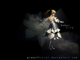 Saber Lily Wallpaper by glamofficial