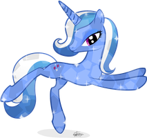 Diamond Blue Crystal Pony by frozenfish696