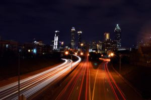 Atlanta from Jackson Street by Joseph-W-Johns