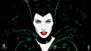 MALEFICENT FROM SLEEPING BEAUTY by akyanyme