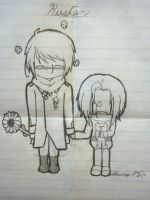 Hetalia: Chibi RusCan by TwoTailsMaly10