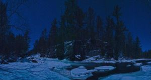 Moonlight on the Snowy cliffs of the Pike. by aRt2faKt