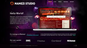 Mamezi Studio, website v1 by thedayv