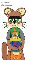 Billy hugging Autzen by FluffyFerret97