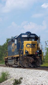 CSX GP40-2 6058 by LDLAWRENCE