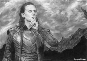 Loki (pencil drawing) by DegasClover