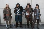 The Dwarves of Thorin Oakenshield company by AlyTheKitten