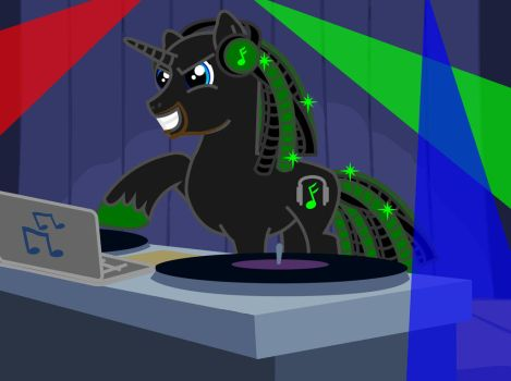 DJ Infam0us Pony by blackwolf085