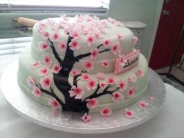 Cherry Blossom Cake by iracel03