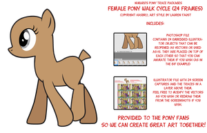 My Little Pony - Female Walk Cycle Vector Package by Nimaru
