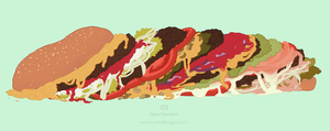100 Foods - Burgers!! by Peppermint-Pinwheel