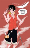 How Luffy cooks his meat... by funkfreed
