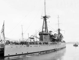British Battlecruiser HMS New Zealand 1912 at  by lichtie