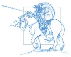 King Fergus on horseback - Disney Pixar's Brave by KingOlie
