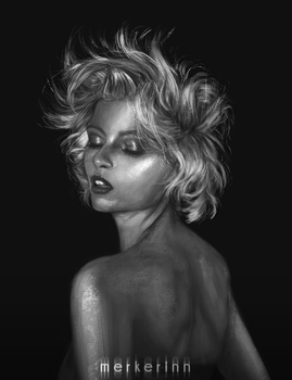 Portrait value study #6 by merkerinn