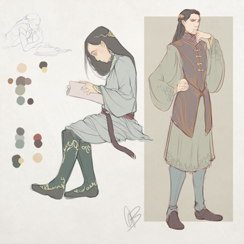Greypath- Sketches and Color Test/Info by Iseijin