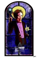 The Doctor:  Stainglass-1 by Dimestime