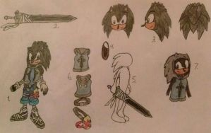 Sonic Boom OC Reference - A5L Male Sonic Persona by A5L