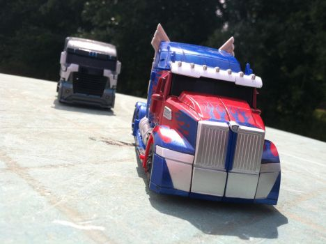 Truck chase by seekerblackout