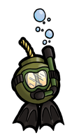 Scuba Bob-Omb by DarkCobalt86